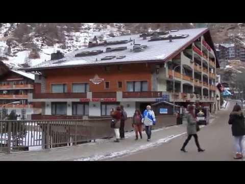 Landing. Geneva airport. Switzerland. Ski resort Zermatt. Matterhorn. Церматт.