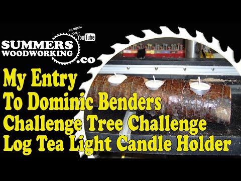 How To Make A Log Tea Light Candle Holder