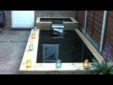 Railway sleeper wooden raised pond