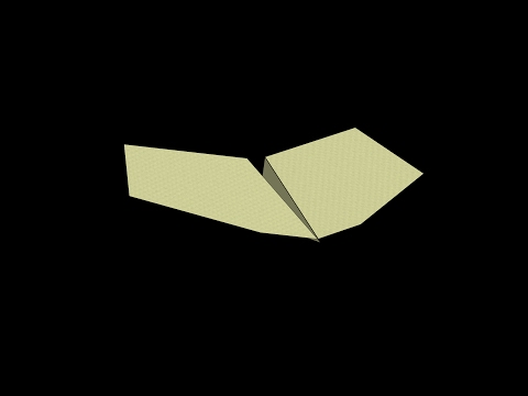 Kingfisher Paper Airplane: 3D Folding