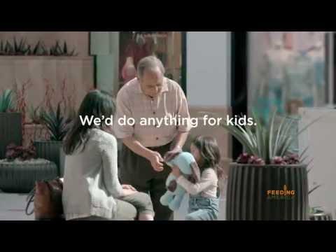 Feeding America 'We'd do anything for kids' child hunger PSA
