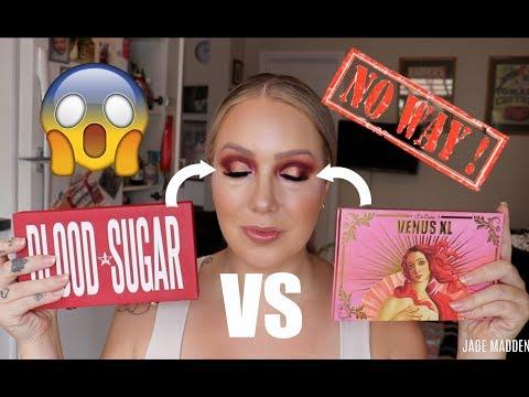 Blood Sugar VS Venus XL | SAME LOOK- DIFFERENT PALETTES! | Jeffree Star VS Lime Crime! | Jade Madden