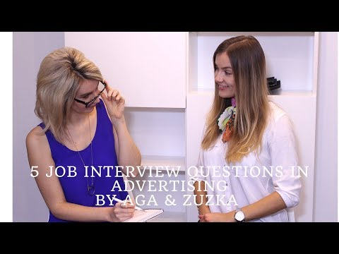 5 Job interview questions in advertising (creative agency)