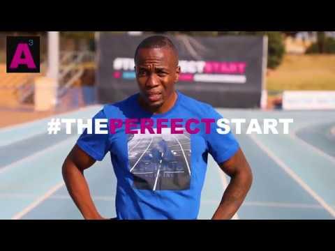 Akani Simbine #ThePerfectStart - in training