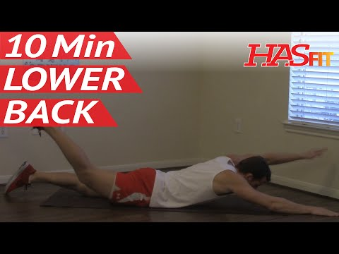 10 Minute Lower Back Workout - HASfit Lower Back Exercises - Strengthen Lower Back Workouts