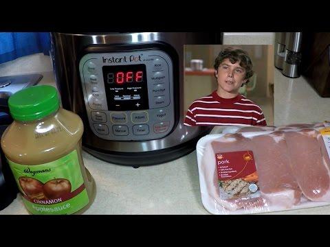 Pork Chops and Apple Sauce Instant Pot Pressure Cooker