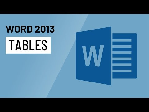 Word 2013: Tables