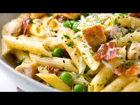 Chicken Carbonara with Penne Pasta