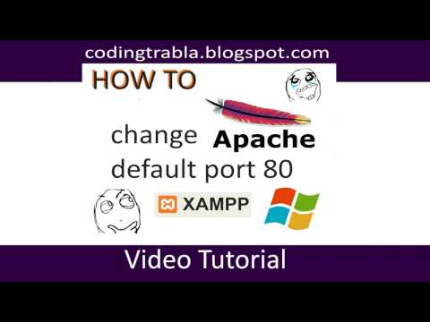 How to change XAMPP Apache default port 80