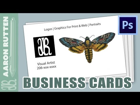 How To Make A BUSINESS CARD in Photoshop CC