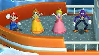 Mario Party 9 Garden Battle - Mario vs Peach vs Daisy vs Waluigi| Cartoons Mee