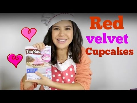 Easy recipes for kids. Red velvet Cupcakes.
