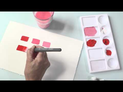 How to Paint - Lightening and Darkening Acrylic Colour