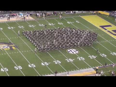 Fightin' Texas Aggie Band Halftime Drill - LSU Game at Tiger Stadium - 11/25/17