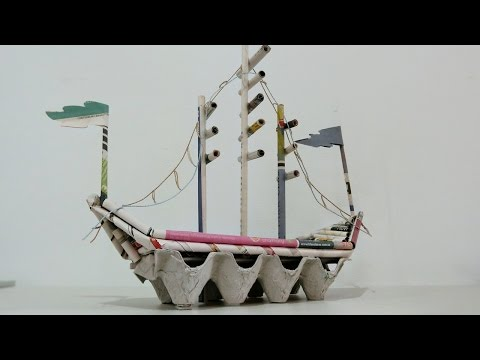 DIY Newspaper Crafts | How to make Pirate Ship