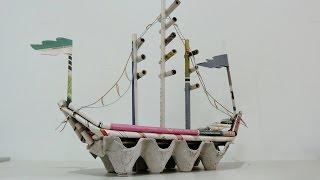 DIY Newspaper Crafts | How to make Pirate Ship