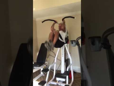 60 year old guy demos core workout