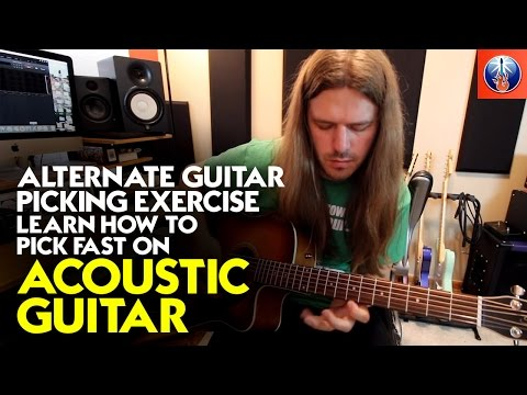Alternate Guitar Picking Exercise - Learn How to Pick Fast on Acoustic Guitar