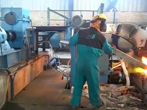 copper rod upward casting plant