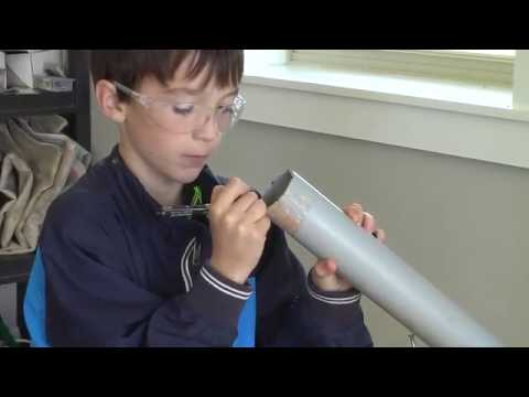 Homemade Rubber Band Slingshot Build