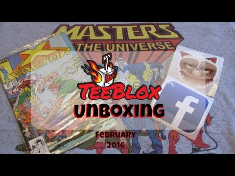 TEEBLOX T-SHIRT Subscription Box UNBOXING! GIVEAWAY! (closed) COUPON CODE! February 2016