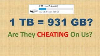 1 Tb Is Equal To 931 Gb Are They Cheating On Us