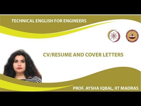 CV/Resume and Cover Letters