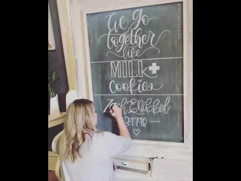 Love & Luck St. Patty's Day Wedding Chalkboard