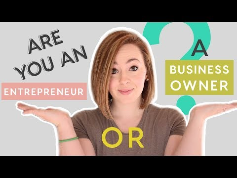 Business Owner vs Entrepreneur - WHAT ARE YOU?!?