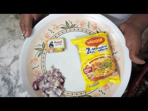 Butter maggi in 5 mintes Evening breakfast