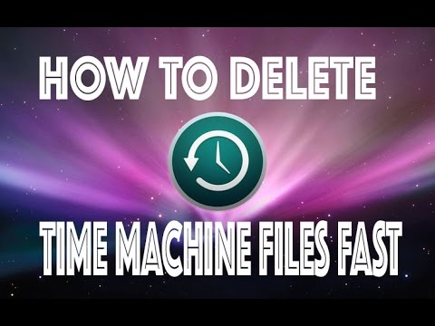 How to delete files inside time machine