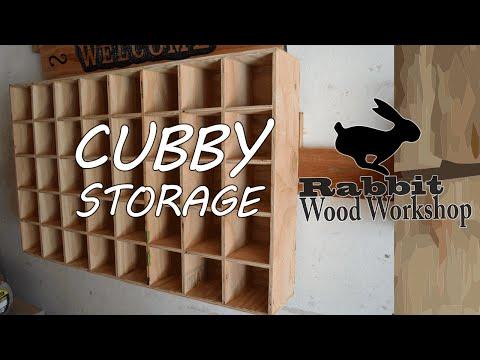 Cubby storage Easy build.