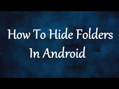 How To Hide Folders/Files In Android Without Any Applications