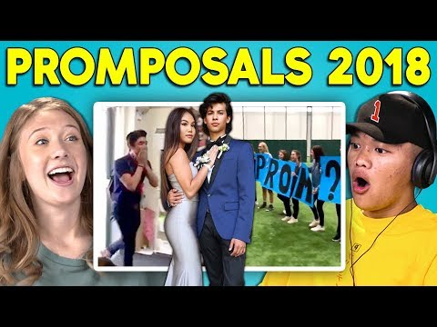 TEENS REACT TO PROMPOSALS 2018