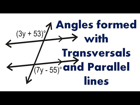 Geometry Lesson - Angles formed with Transversals and Parallel lines