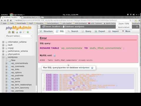 How to change WordPress database table prefixes