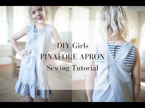 DIY Linen Pinafore Apron for Girls