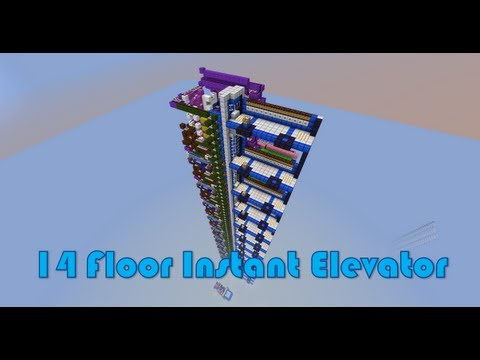 Piston Elevator  Up & Down Fast Multi Floor  in Minecraft
