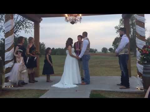 Wedding Ceremony for Pregnant Bride Allison Renee Machamer & Steven Michael Darnell