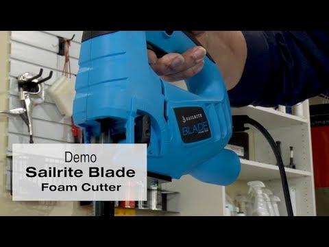 Foam Cutter Demo of Sailrite Blade Foam Saw
