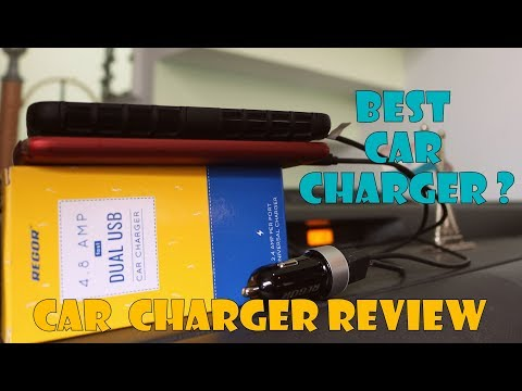 Regor [4.8Amp - 2 Port] Hi-Speed Car Charger | Is it Really the Fast Car Charger?
