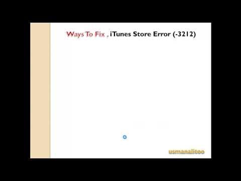 How To Fix iTunes Store Error (-3212)
