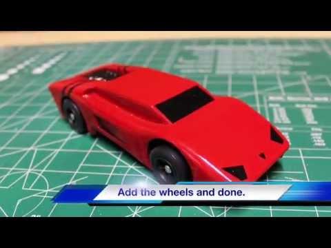 DIY Lamborghini or Ferrari Pinewood Derby Car