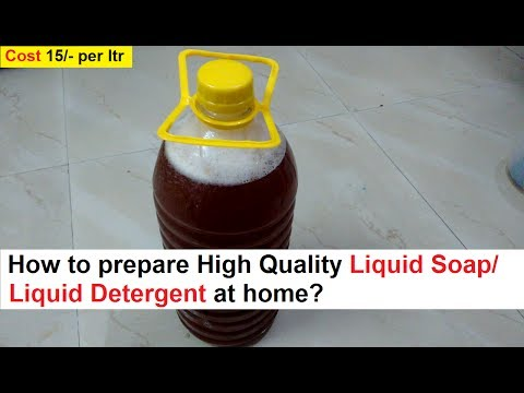Making of Liquid Soap/Detergent at Home - Simple and Quick Steps