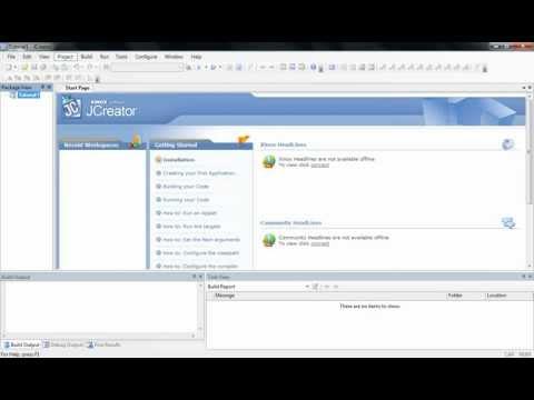 Java Tutorial 1: How to use JCreator and create Hello World Program