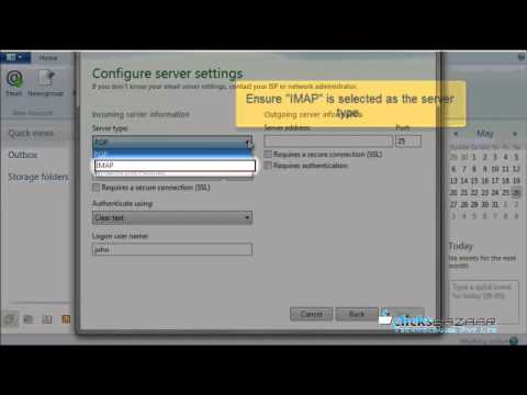 Configuring an IMAP email account with SSL in Windows Live Mail