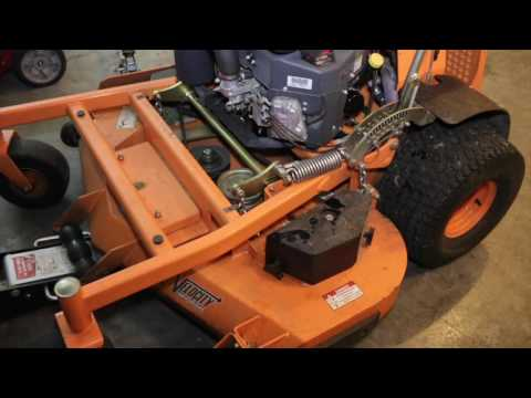 Scag Mower Maintenance Day ►  Oil Change, Blade Sharpening, Greasing Spindles