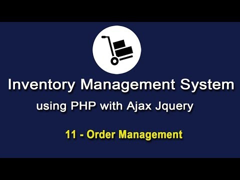 Inventory System using PHP with Ajax JQuery - Order Management - 3