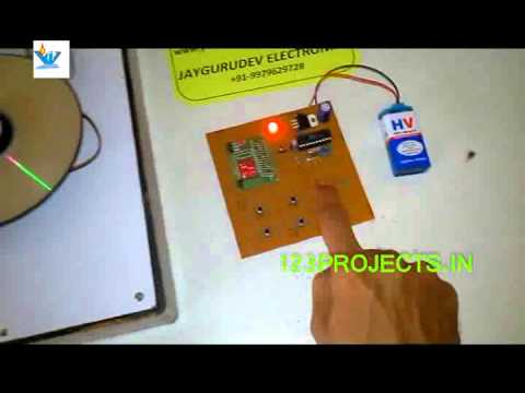 WIRELESS SPEED CONTROL OF DC MOTOR project by 123projects.in