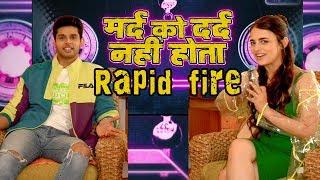 Rapid Fire With Radhika Madan & Abhimanyu Dassani | Mard Ko Dard Nahi Hota